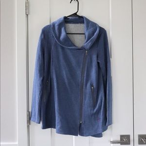 Sweaters - Maternity blue zip up sweater